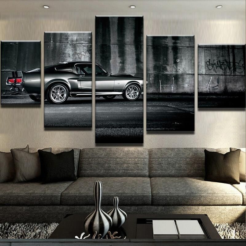 Ford Mustang Eleanor Car Art Wall Framed Modern Canvas Picture Prints Home Decor Home Garden Home Decor Post Canvas Wall Decor Car Wall Art Mustang Decor
