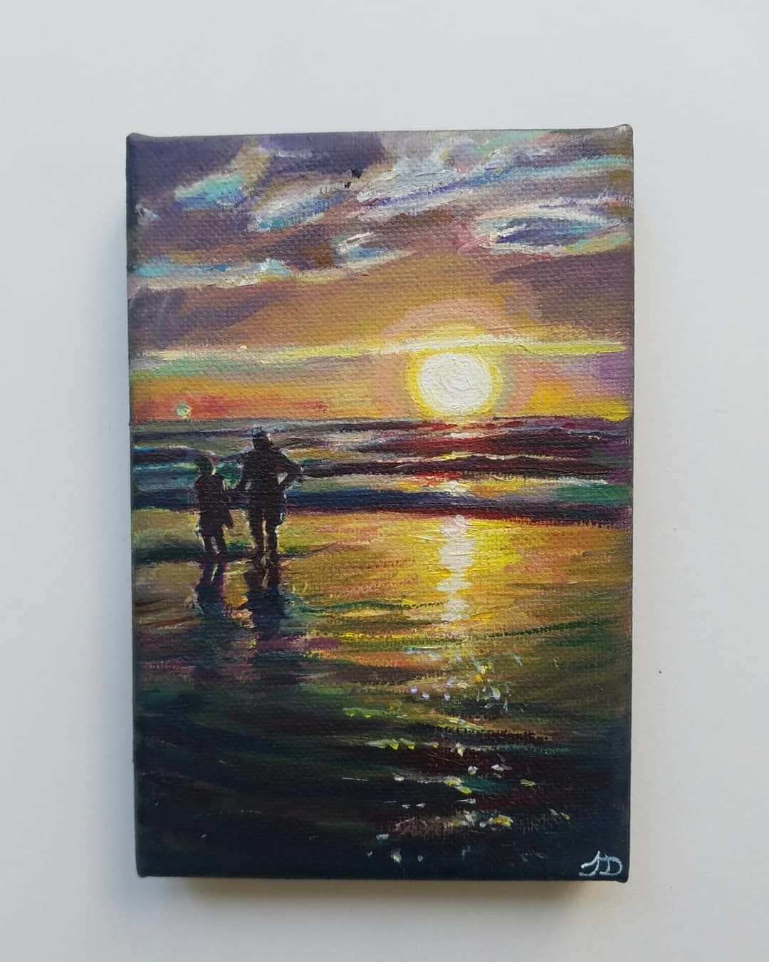 Love Is Over The Horizon Oil On Canvas 4x6 Art Pinterest