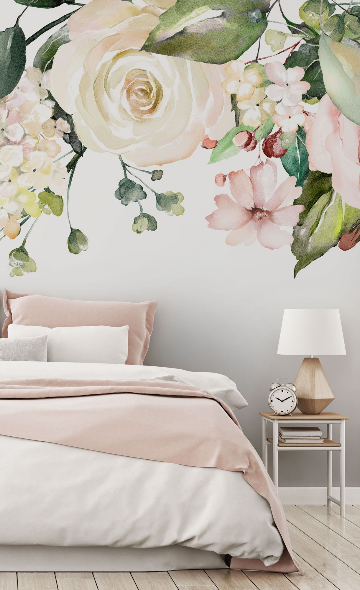 Aren T These The Dreamiest Walls You Ve Ever Seen Discover Our Huge Range Of Wall Murals Pink Wallpaper Bedroom Wall Murals Flower Bedroom Flower bedroom wallpaper images