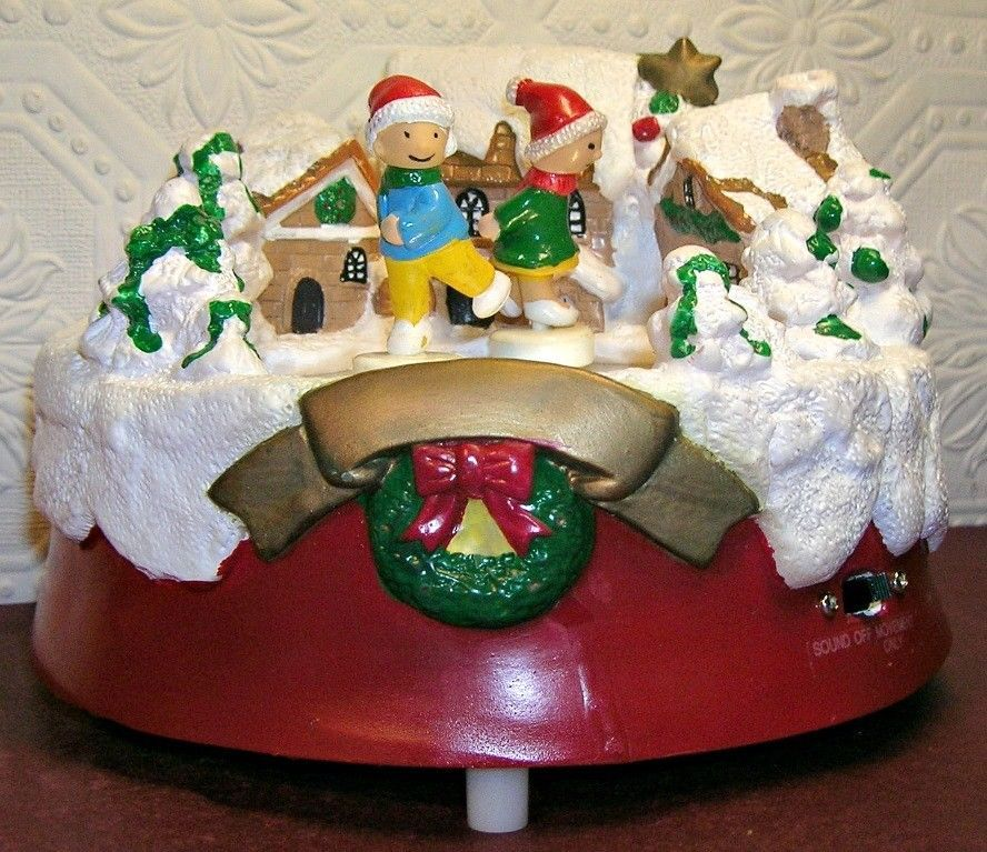 Animated Skaters by North Pole Productions Christmas Music Box SEE