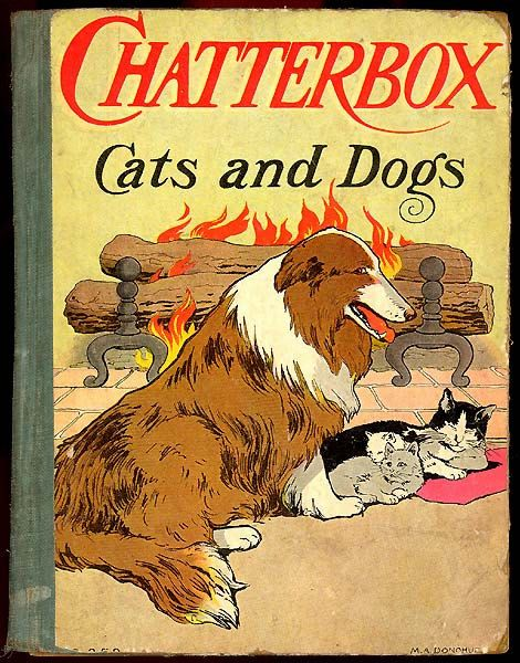 CHATTERBOX Cats and Dogs 1908 Adventure Faithful Pet Animal Story
