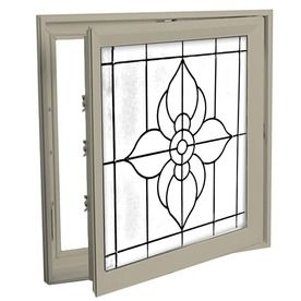 Hy-Lite 29-In X 29-In Decorative Glass Triple Pane Tempered Square New