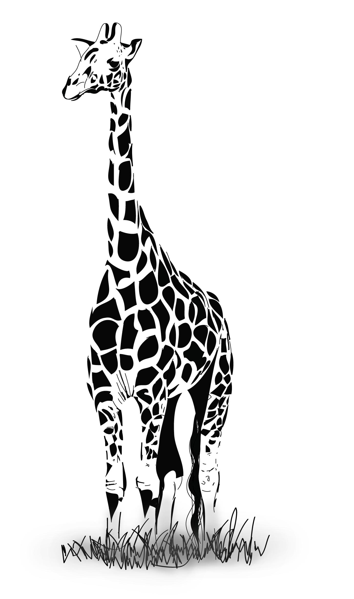 How To Draw A Vector Giraffe In Adobe Illustrator By Jasminasusak Deviantart Com On Deviantart Giraffe Art Giraffe Illustration Giraffe Drawing