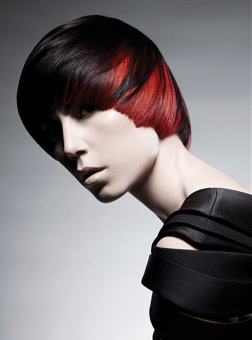 Large Image Of Short Black Straight Hairstyles Provided By Paul Mitchell Picture Number 18397