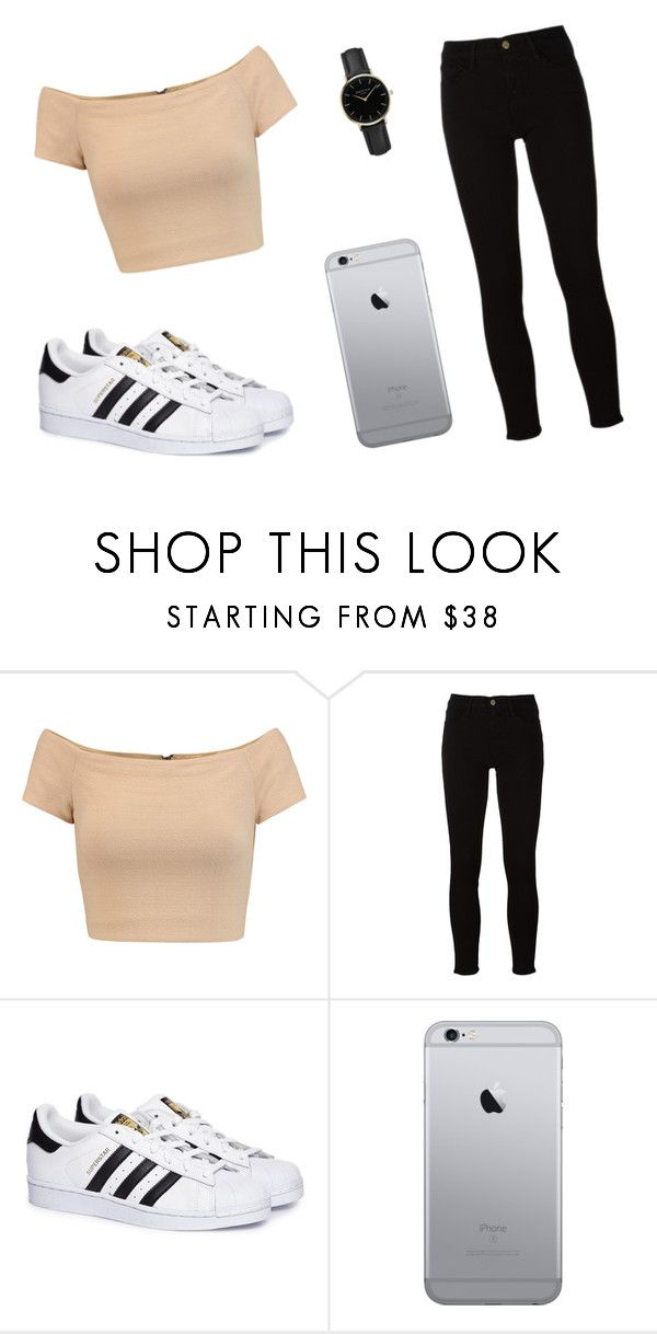 """Tenue N*1 🌹"" by alexane-motte ❤ liked on Polyvore featuring Alice + Olivia, Frame, adidas and ROSEFIELD"