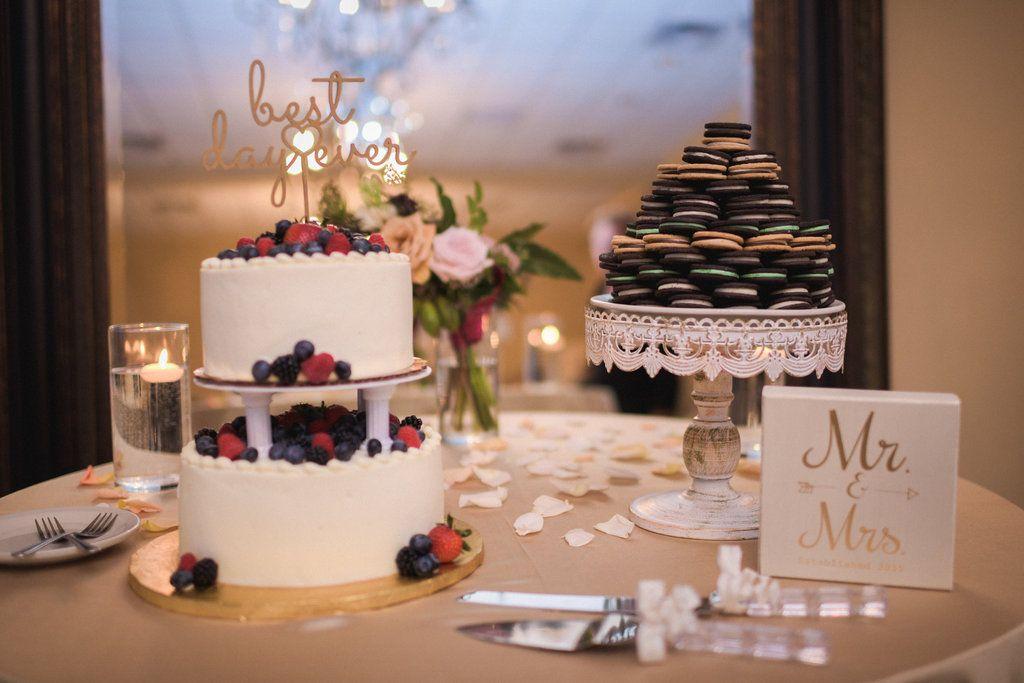 whole foods berry chantilly wedding cake  oreo grooms cake