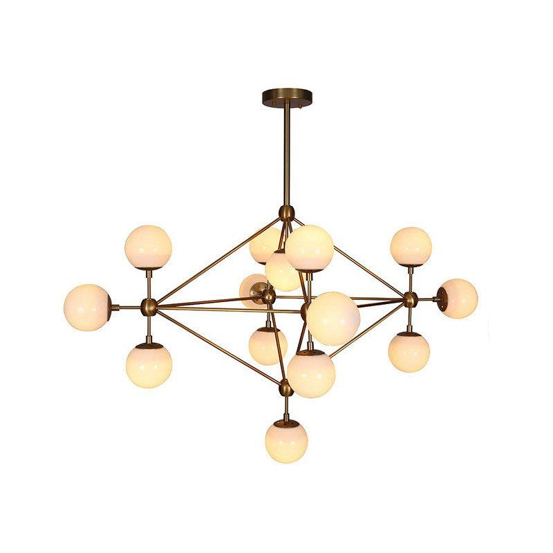Ritz 14 head cluster chandelier chandelier table lamp frosted brushed brass cluster bulb chandelier frosted glass aloadofball Gallery