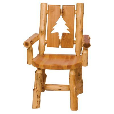 Fireside Lodge Furniture Cedar Cut Out Log Arm Chair   16171 | Lodge  Furniture And Products