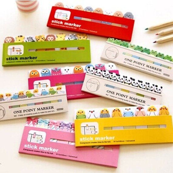 Tag Pads Sticker Self Stick Notes Memo Message Paper Marker 3 x 3 inch 12 Pads