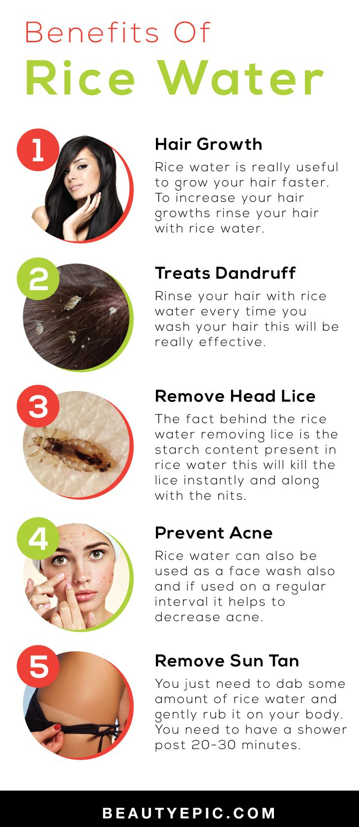 Rice Water Benefits And Uses For Health Beauty Water Benefits For Skin Water Hair Growth Rice Water Benefits