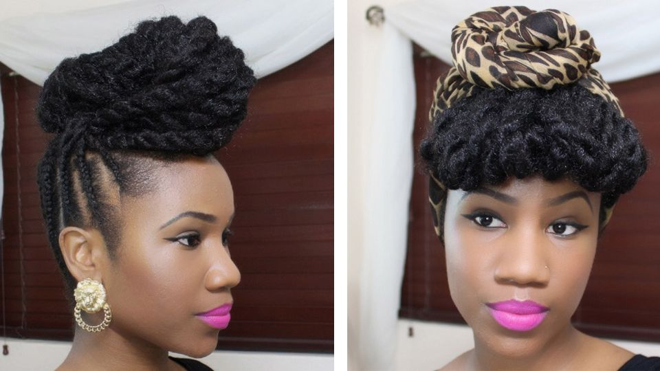 Braided Updo With Marley Hair Click The Photo For The Tutorial