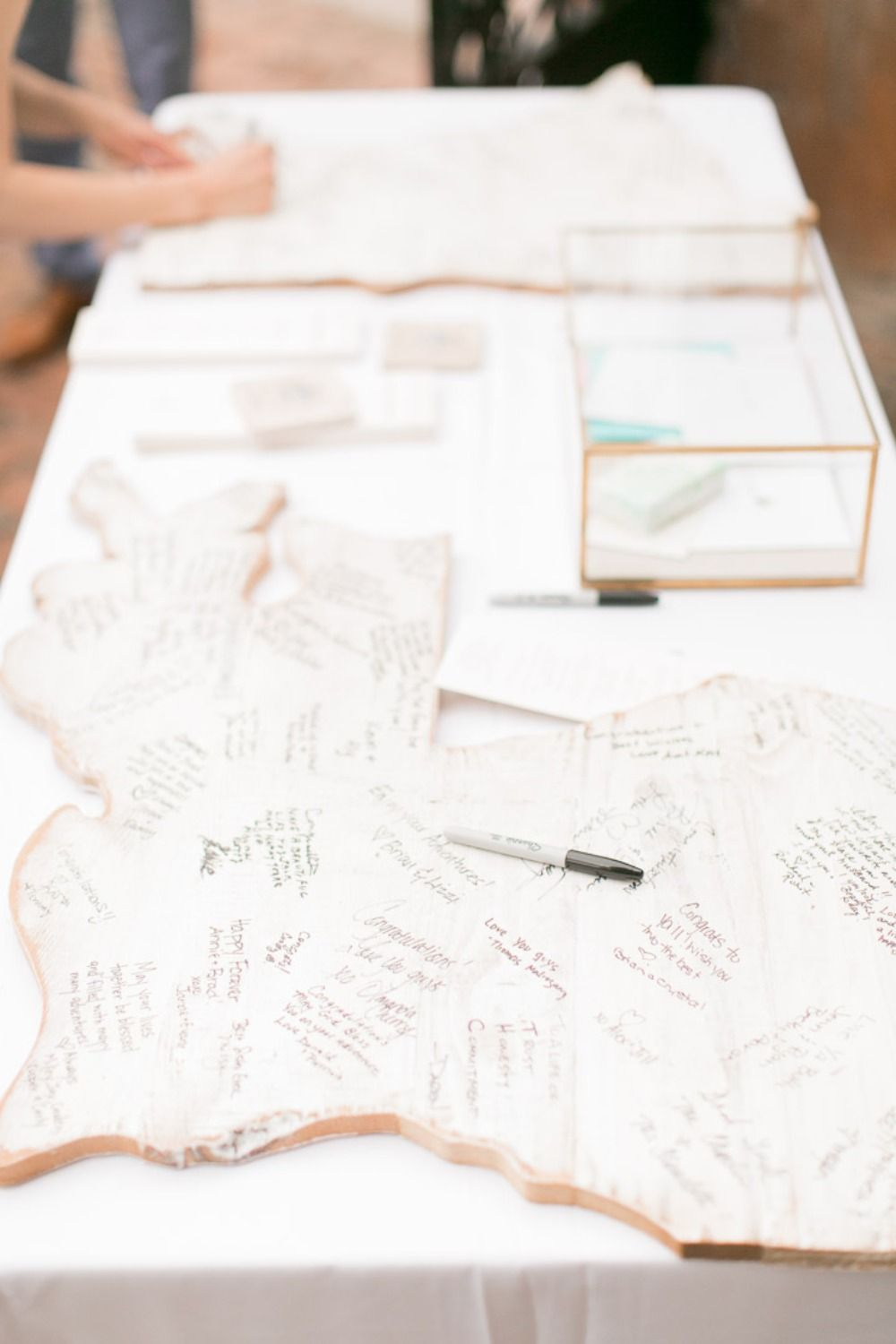 What Happens in New Orleans Blush Wedding | Guestbook ideas ...