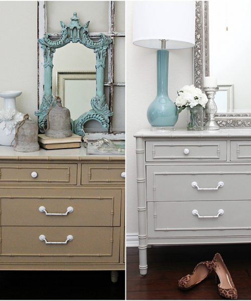 simple chalk furniture paint dresser tutorial with just a few steps