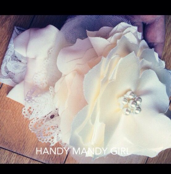 Baptism silk floral lace headband with ivory delicate bow- fancy headband for christening -luxury headband on Etsy, $25.00