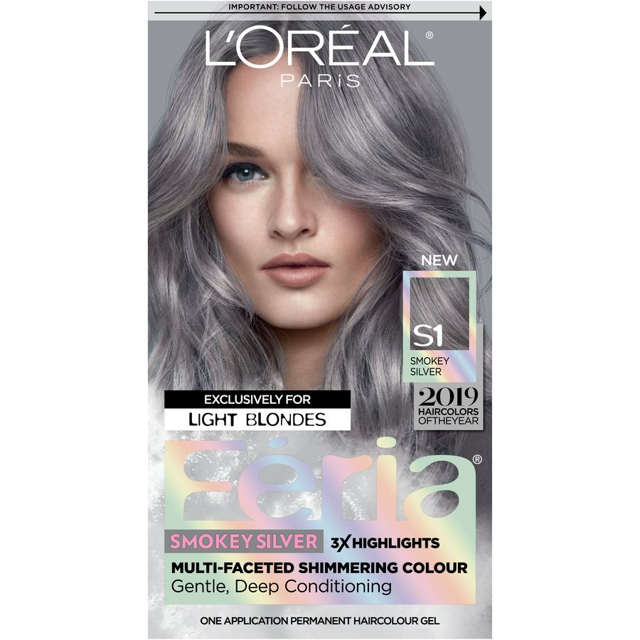 Beauty Silver Hair Dye Grey Hair Dye Permanent Hair Color