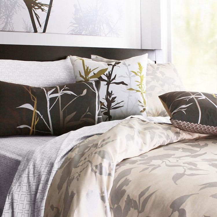 Modern bedding from Inhabit.