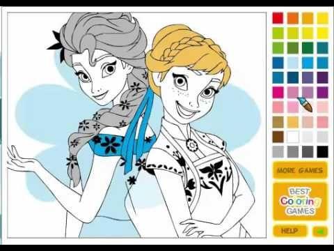 Disegni Da Colorare Elsa E Anna Frozen Giochi Di Frozen