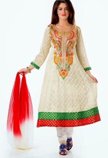 3dc48ea630c4 Latest Designs Of Pakistani Salwar Kameez 2014-2015 For Girls ...