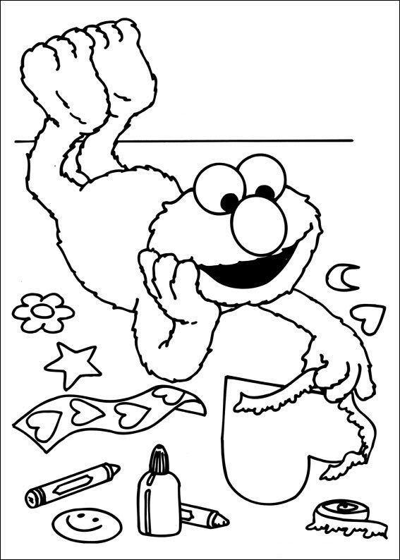 Elmo Sesame Street Sesame Street Coloring Pages Valentines Day