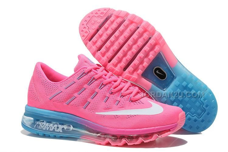 7281633299 Only$79.00 WOMENS NIKE AIR MAX 2016 RUNNING SHOES PINK/LIGHT BLUE-WHITE  Free Shipping!