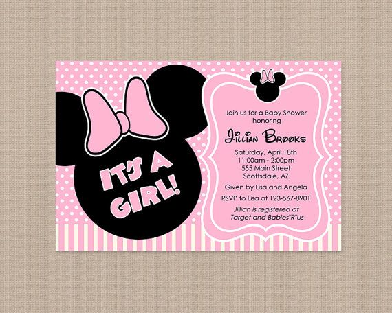 Minnie mouse beb ducha invitacin para imprimir por thepartystork pink minnie mouse baby shower invitation inspired by honeyprint filmwisefo