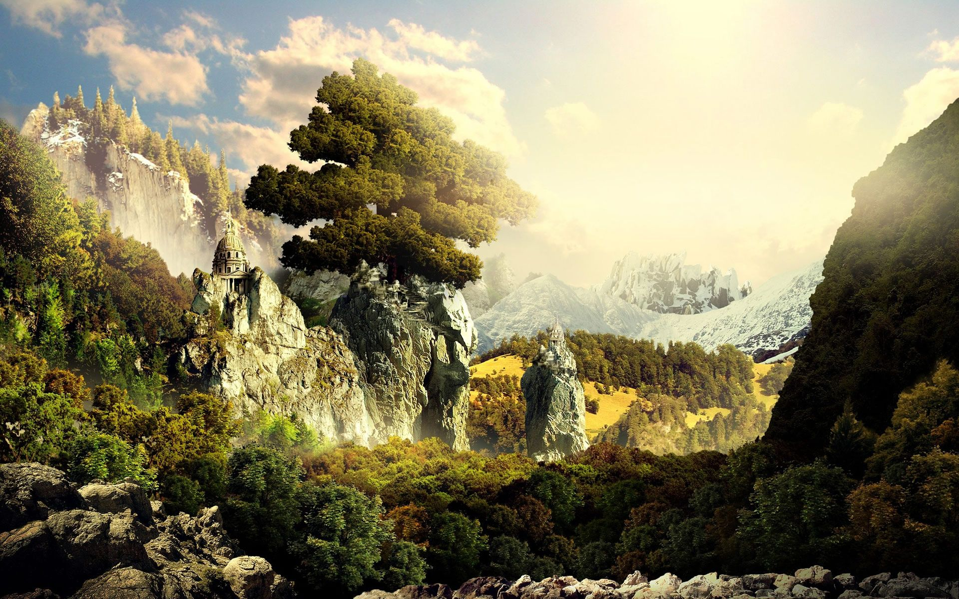 Fantasy Landscape Background Jpg 1920 1200 Landscape Wallpaper Scenery Wallpaper Fantasy Landscape