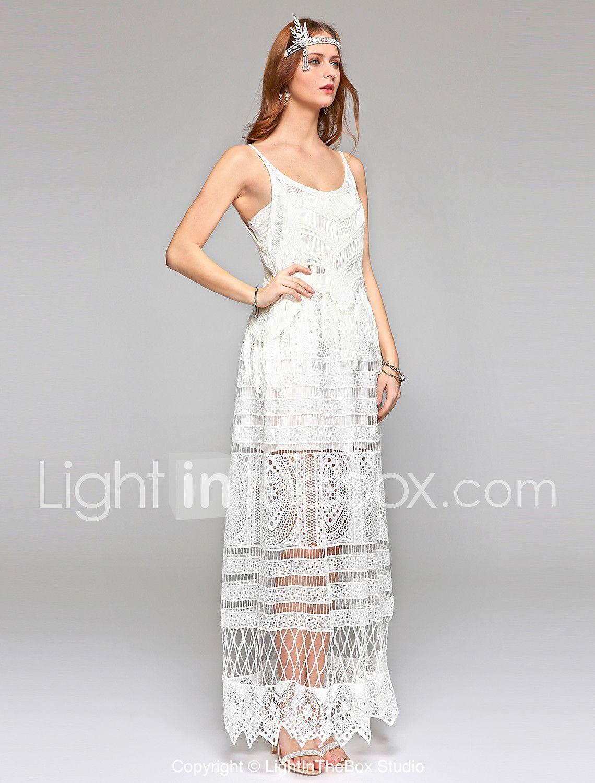 Vaina / columna vestido de novia simplemente sublime ver-a través de tobillo-longitud cucharada de encaje con encaje drapeado 5661849 2017 – €96.02