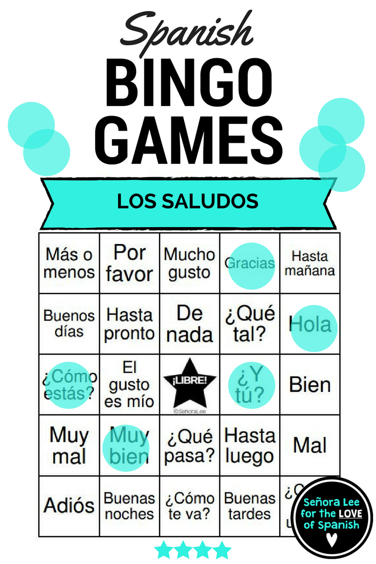 Spanish Greetings Bingo And Vocabulary List Los Saludos Spanish