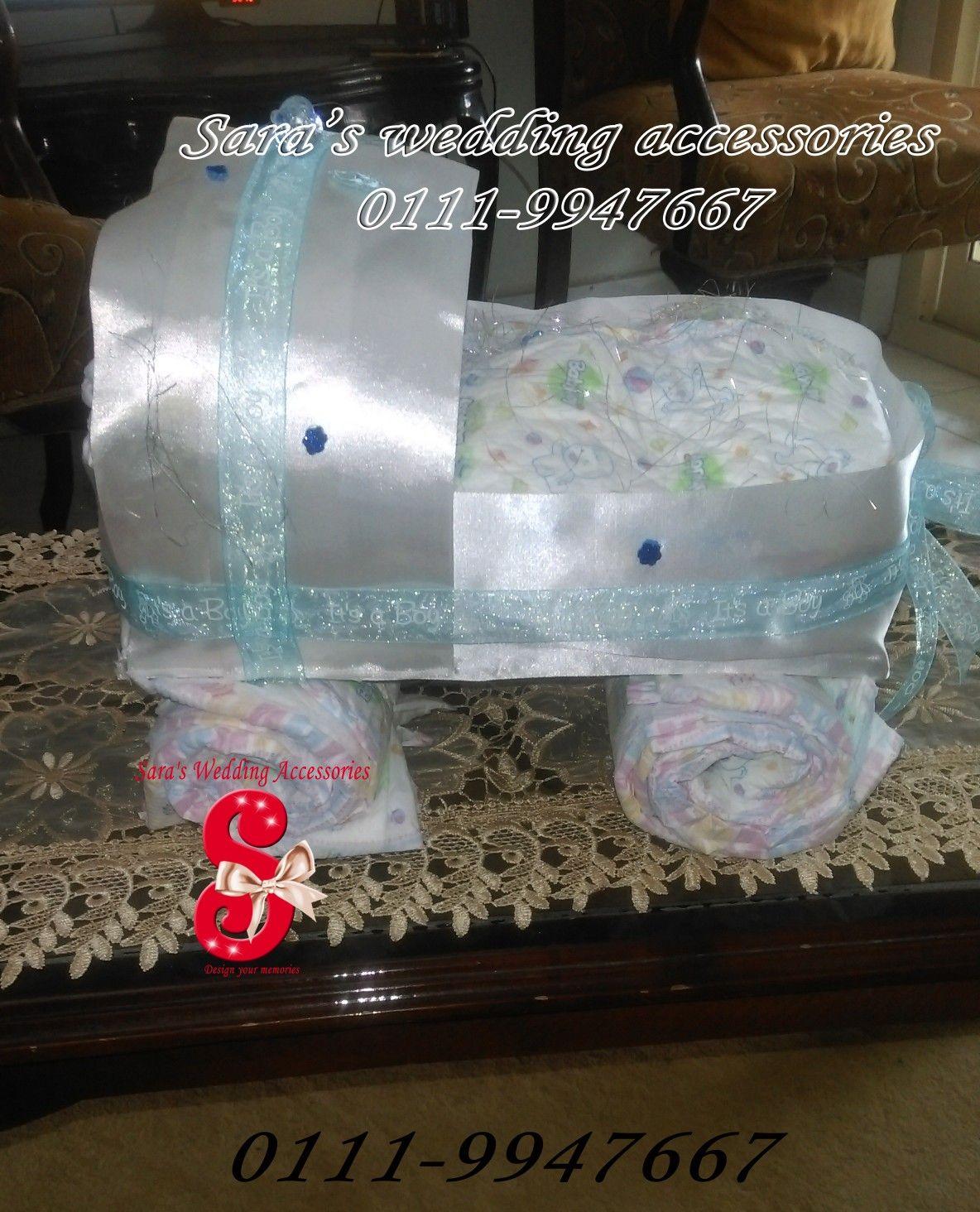 عربية بامبرز هدية سبوع بيبي ولد Gift For Boy Baby Shower سبوع عقيقة بامبرز هدية مولود بيبي فن Baby B Wedding Accessories Baby Shower Shower