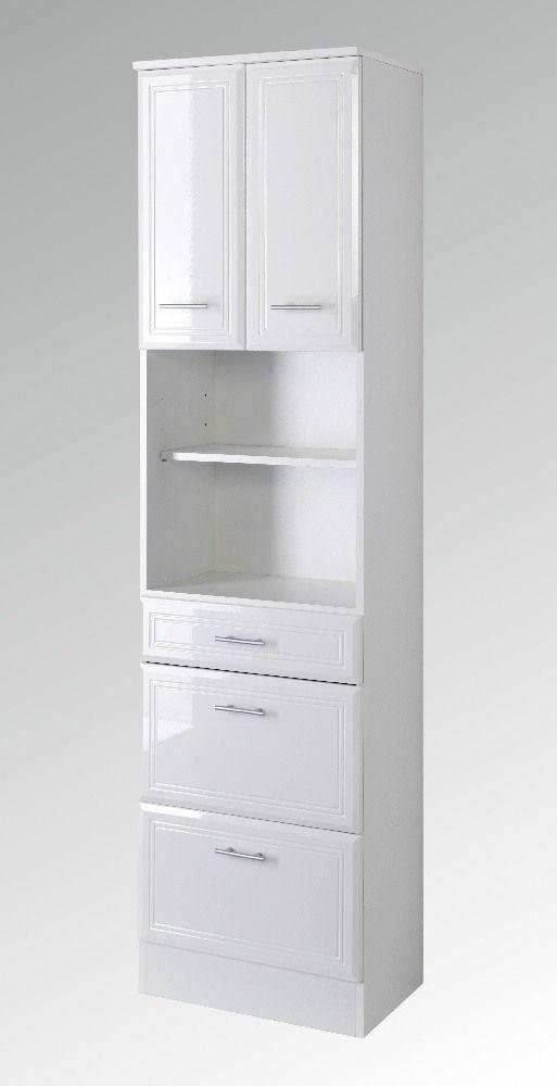 Badezimmer Hochschrank Weiß Hochglanz badezimmer