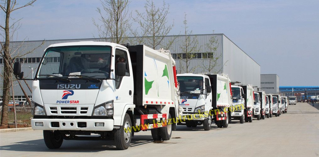 5Tons 8Tons ISUZU ELF Garbage Truck with Compactor for