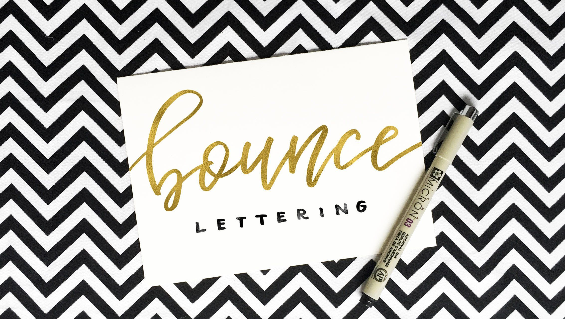 Class bounce letters adding character to your hand lettering
