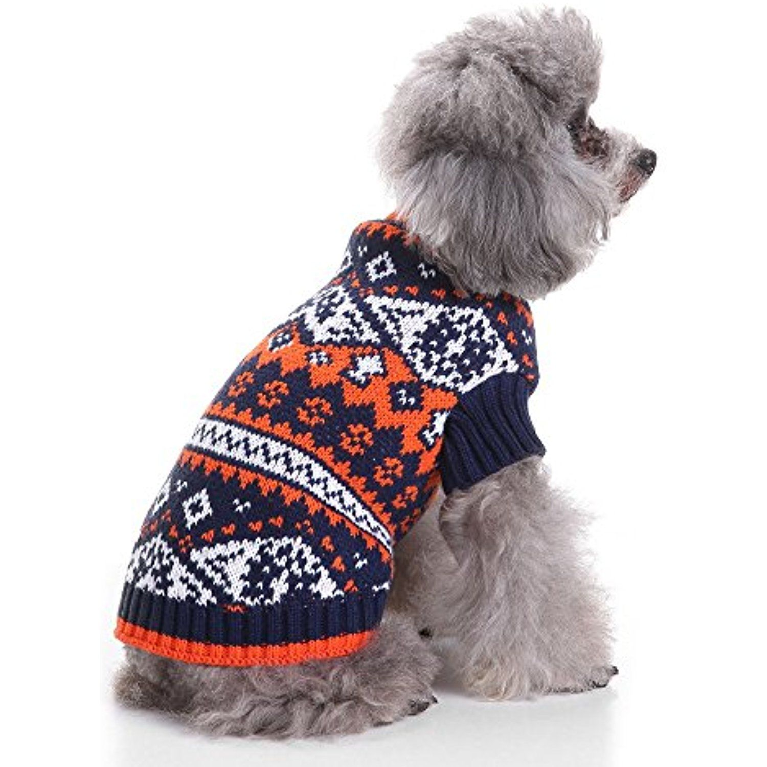Ranphy Print Knitwear Turtleneck Dog Cat Sweater Cable Knit Pullover Puppy Pet Outerwear Holiday Warm Clothes B Small Dog Sweaters Pet Sweaters Dog Clothes Diy [ 1500 x 1500 Pixel ]