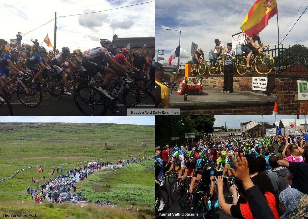 The Tour de France passes by Valli Opticians in