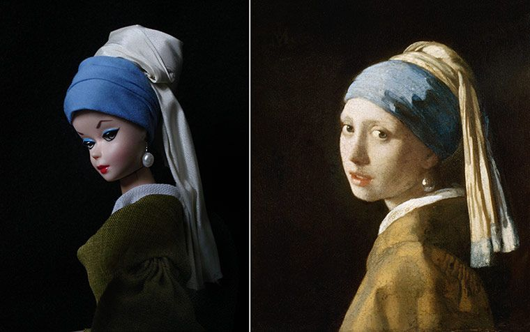 barbie as girl with pearl earring