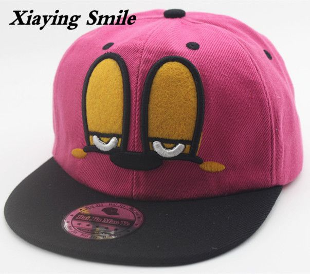 >> Click to Buy << Xiaying Smile Kids Snapback Adjustable Baseball Cap Hip Hop Cartoon Big Eye Embroidery Casual Youth Fashion Children Snap Back #Affiliate