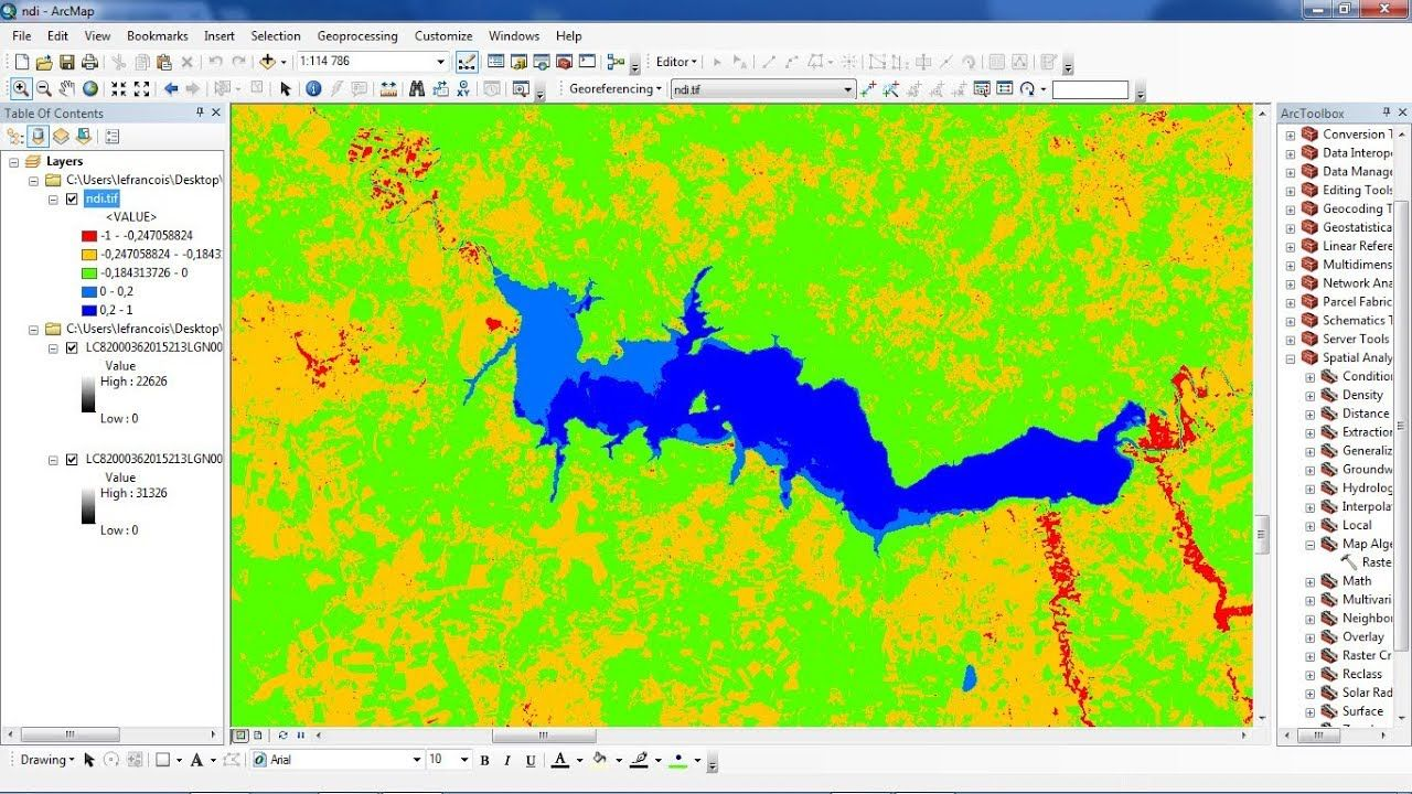 How to calculate NDWI using ArcGis | Geospatial / GIS