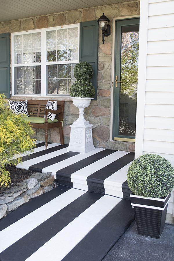 How To Paint Stripes On Your Front Porch Front Porch Makeover