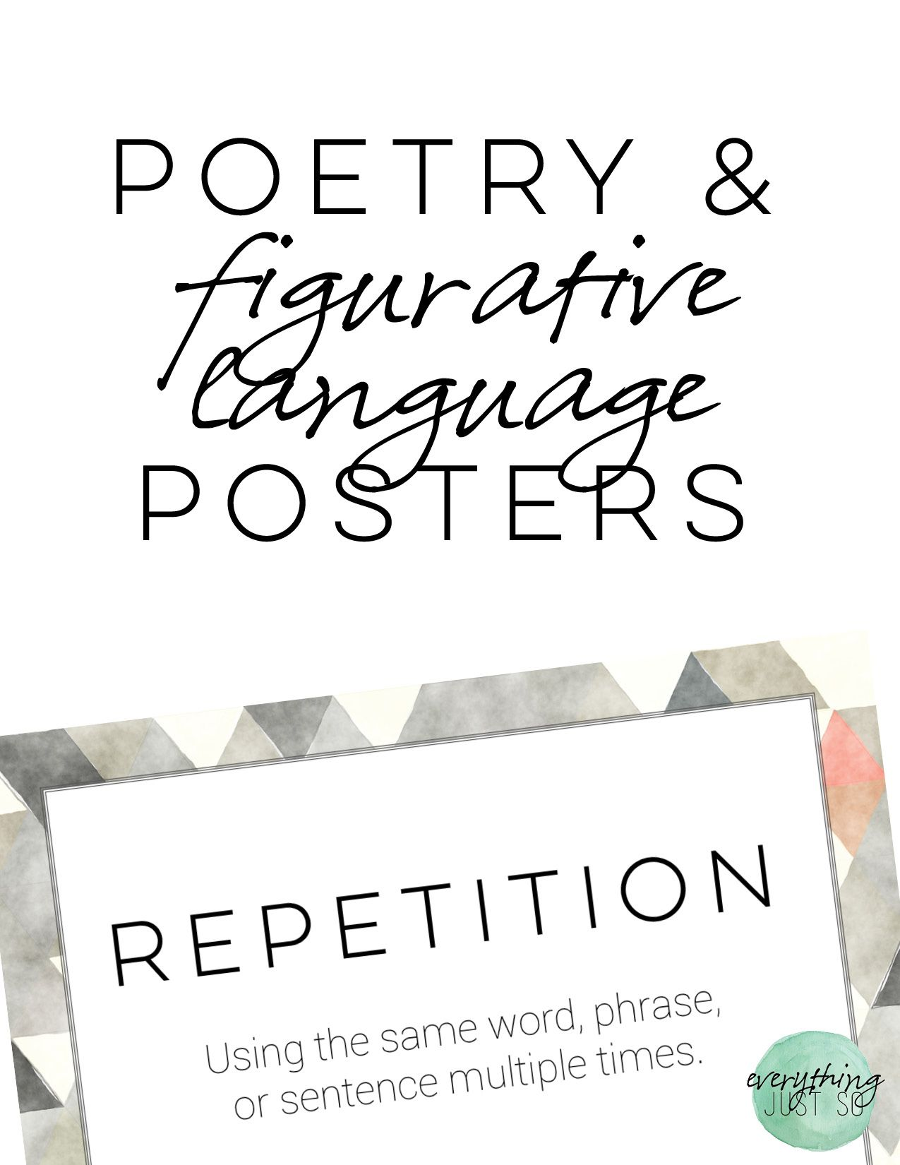 Poetry And Figurative Language Posters Free