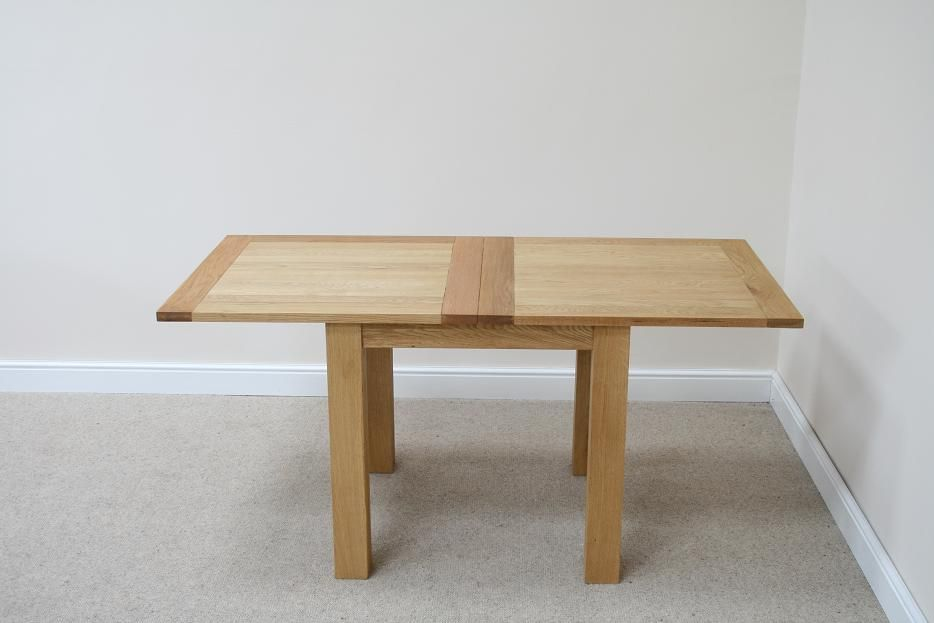 Flip Top Oak Dining Tables Narrow Folding Console Tables