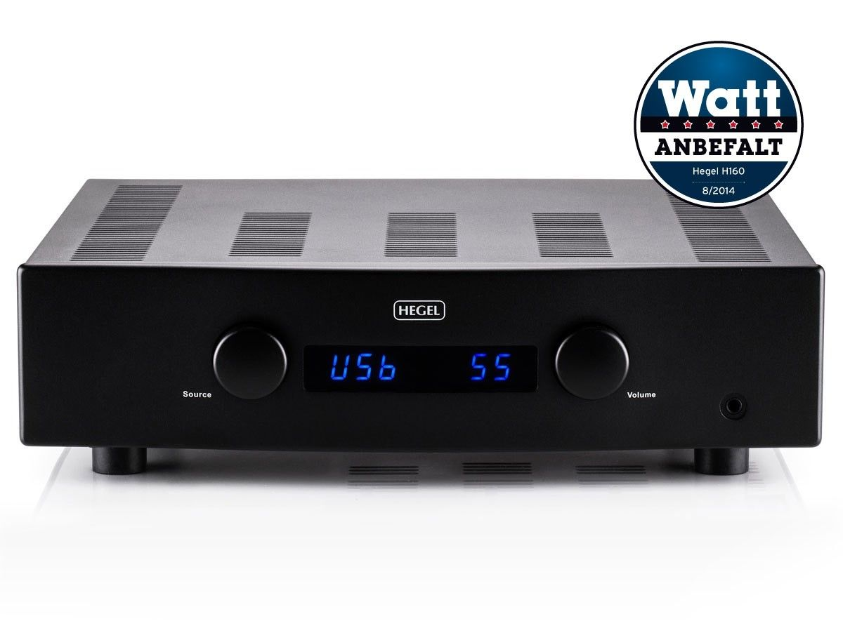 Hegel H160 stereo amplifier with integrated DAC. Norwegian high-end equipment for some good listening experiences.