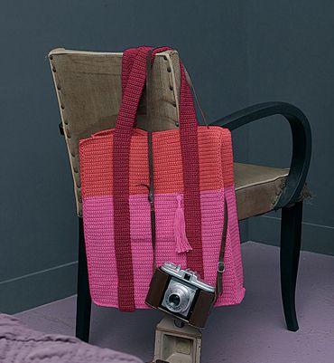 Via Modèle Sac Cabas Au Crochet Tricolore Modèles