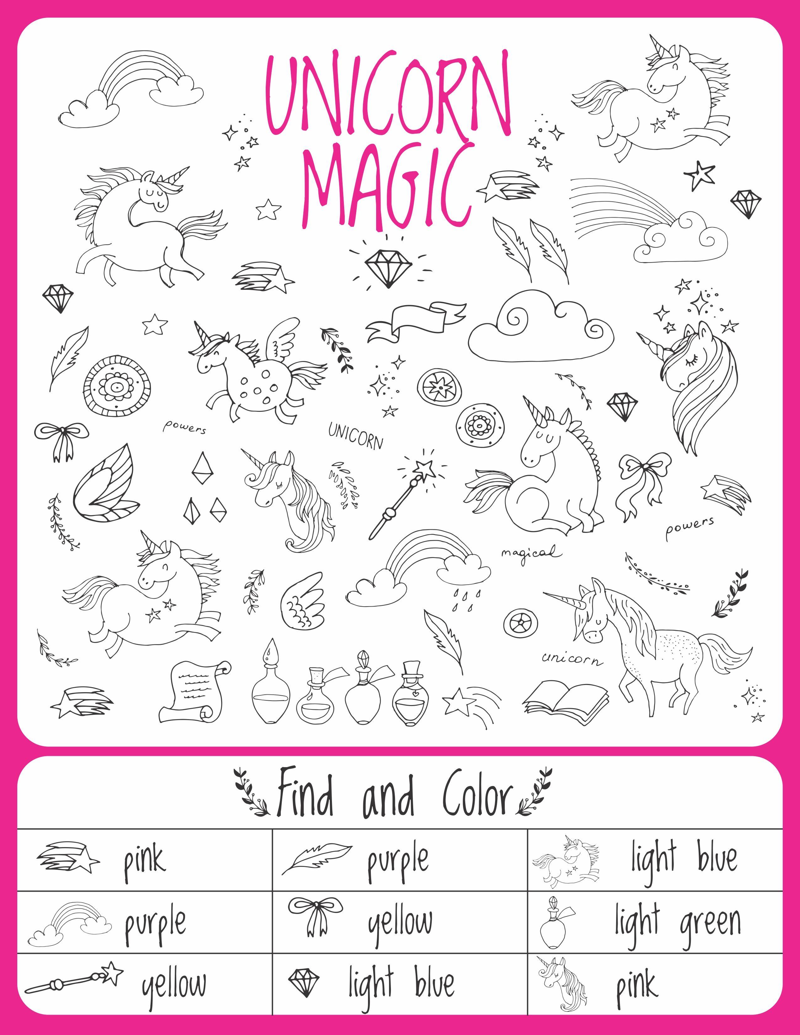 Unicorn Birthday Games Activities Puzzles In