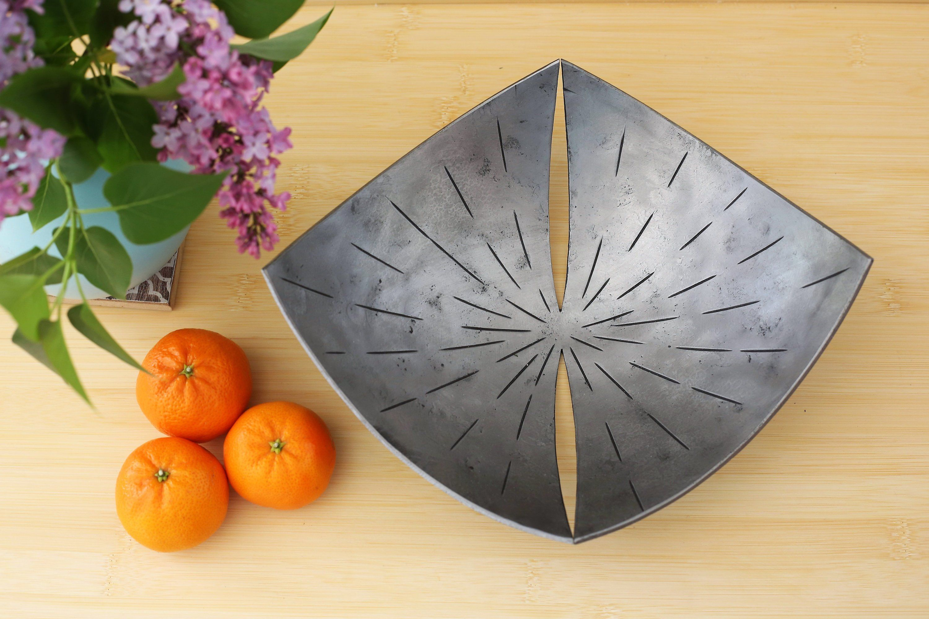 11th anniversary gift for him personalised steel bowl gift