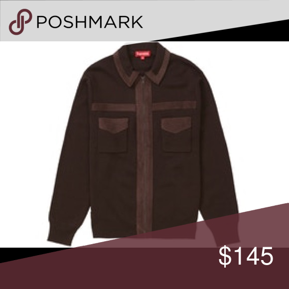 ce4a2fe8b152f Supreme Corduroy Detailed Zip Sweater Brown Supreme Corduroy Detailed Zip  Sweater Size Medium in men s Brand new Never worn Supreme Sweaters Zip Up