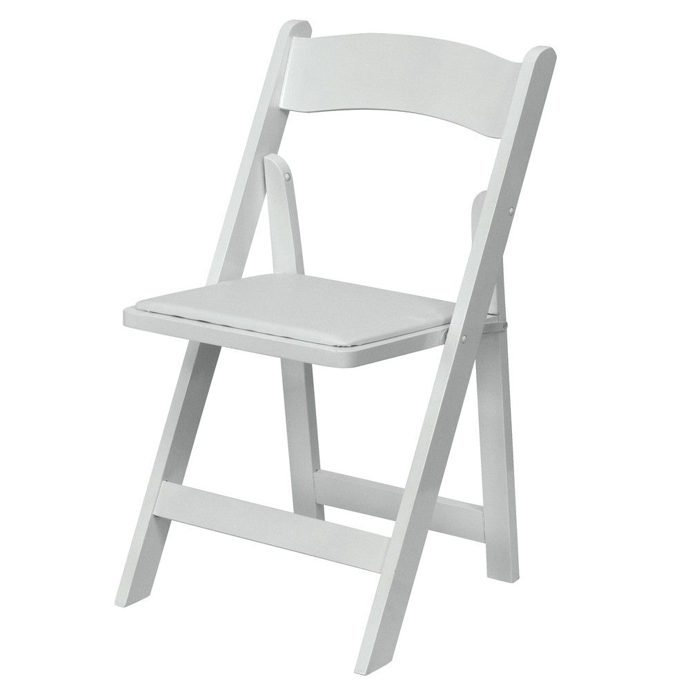 Bon Rent White Fold Up Chairs