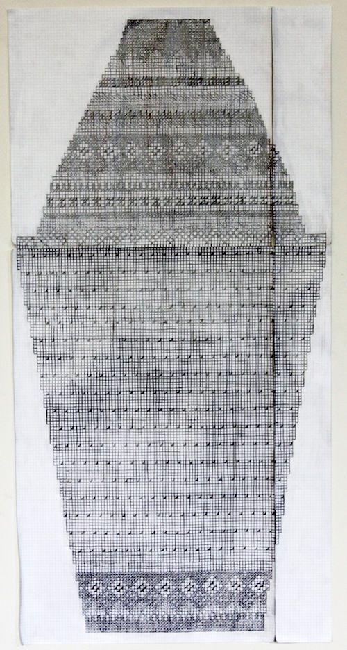 Robert Otto Epstein Knitting Pattern Pencil On Graph Paper What