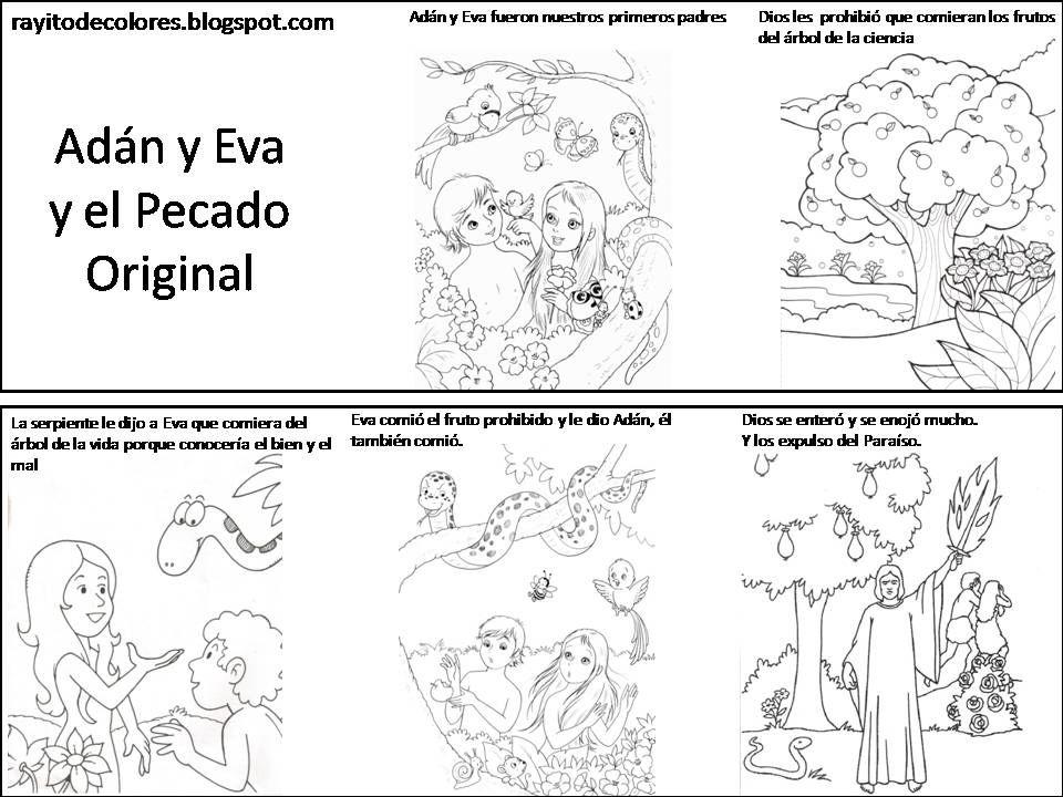 el pecad de adan y eva - Buscar con Google | Dibujos para Catequesis ...