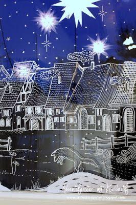 kreidestift fl ssig kreidemarker edding motiv fensterdeko fenster bemalen weihnachtsdorf. Black Bedroom Furniture Sets. Home Design Ideas