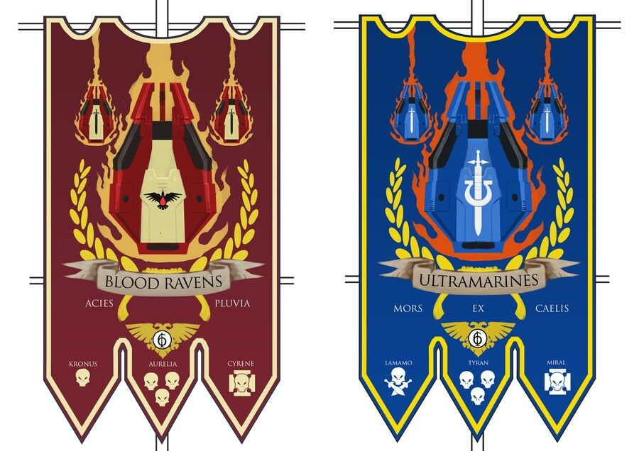 Blood Ravens Ultramarines Wh40k Icons Runes Symbols